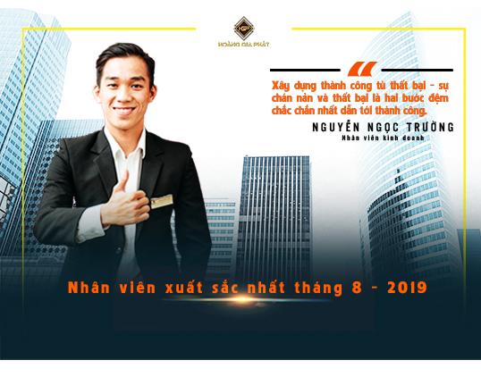 Nhân viên xuất sắc nhất tháng 8 năm 2019